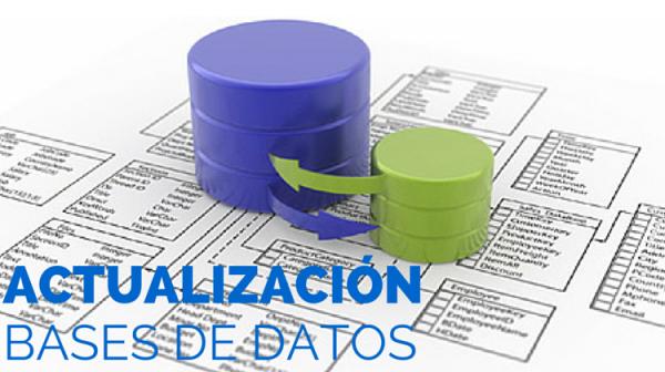 ACTUALIZACIÓN DE LA BASE DE DATOS